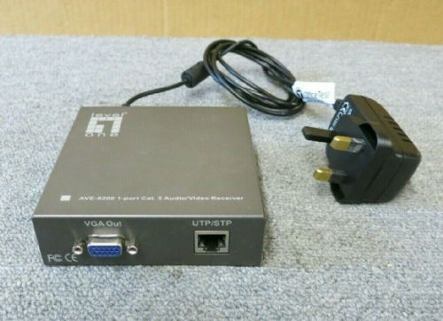 LevelOne ViewCon AVE-9200 Cat5 Audio/Video Receiver With AC Power Adapter